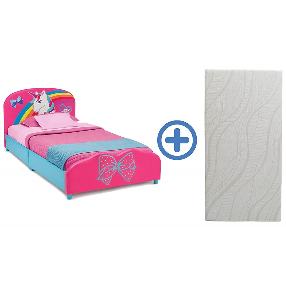 Delta Children Upholstered Twin Bed for toddler